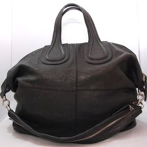 Givenchy Nightingale Leather Satchel Bag black